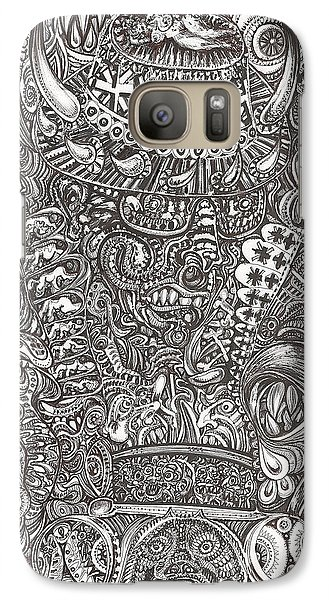 Galaxy Case featuring the mixed media Mr Chameleon by Giovanni Caputo