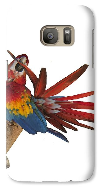 Galaxy Case featuring the photograph Mr. Clean The Scarlet Macaw by Daniel Hebard