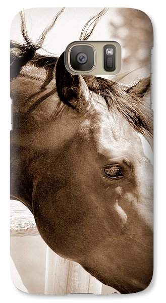 Galaxy Case featuring the photograph Mr. Curiosity by Barbara Dudley