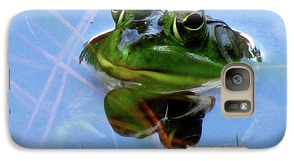 Galaxy Case featuring the photograph Mr. Frog by Donna Brown