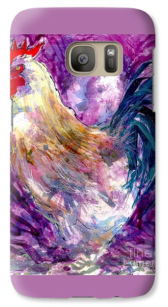 Galaxy Case featuring the painting Mr. Rooster  by Joan Hartenstein