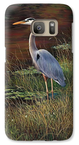 Mrs Blue Heron Galaxy Case by Laurie Hein