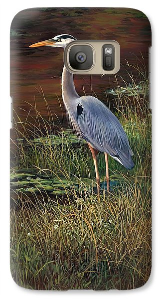 Mrs Blue Heron Galaxy S7 Case by Laurie Hein