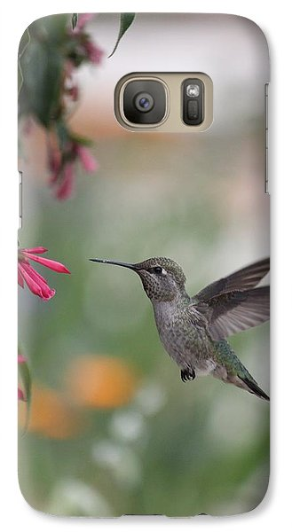 Galaxy Case featuring the photograph Mrs. Little Anna's Hummingbird by Amy Gallagher