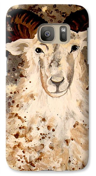 Galaxy Case featuring the painting Powell Mountain Goat by Amy Sorrell
