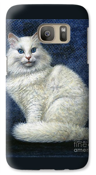 Galaxy Case featuring the painting Mrs. Moon by Jane Bucci