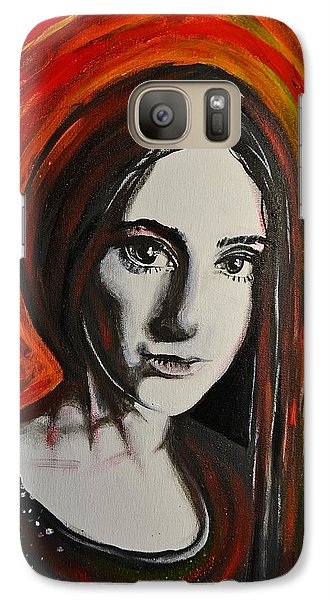 Galaxy Case featuring the painting Portrait In Black #x by Sandro Ramani