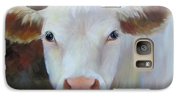 Galaxy Case featuring the painting Ms Petunia by Cheri Wollenberg