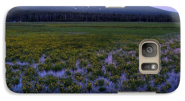 Galaxy Case featuring the photograph Mt. Bachelor Twilight by Kevin Desrosiers