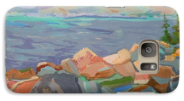 Galaxy Case featuring the painting Mt. Desert From Schoodic Point by Francine Frank