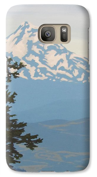 Galaxy Case featuring the painting Mt Hood by Karen Ilari
