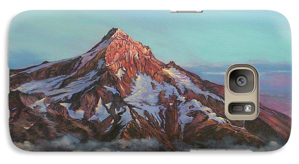 Galaxy Case featuring the painting Mt Hood North Face by Jeanette French
