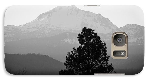 Galaxy Case featuring the photograph Mt. Lassen With Tree by Jan Davies
