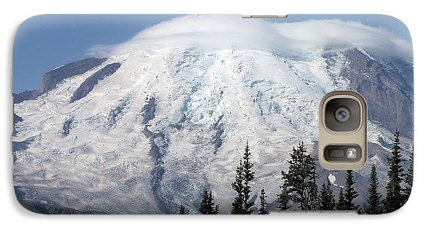 Galaxy Case featuring the photograph Mt. Rainier In August 2 by Chalet Roome-Rigdon