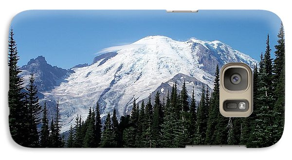 Galaxy Case featuring the photograph Mt. Rainier In August by Chalet Roome-Rigdon
