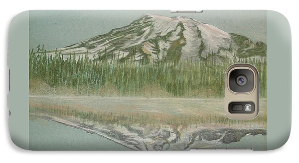Galaxy Case featuring the pastel Mt Rainier by Terry Frederick