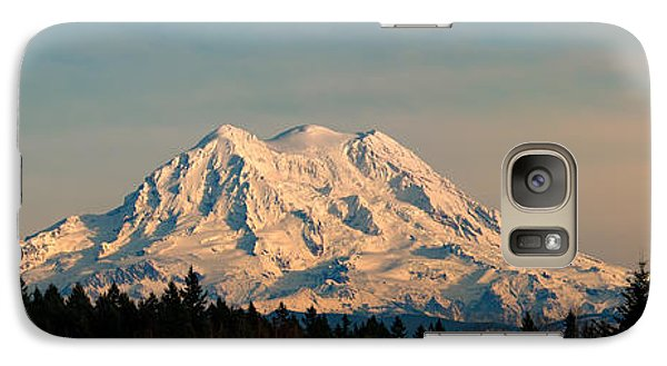 Mt Rainier Winter Panorama Galaxy S7 Case