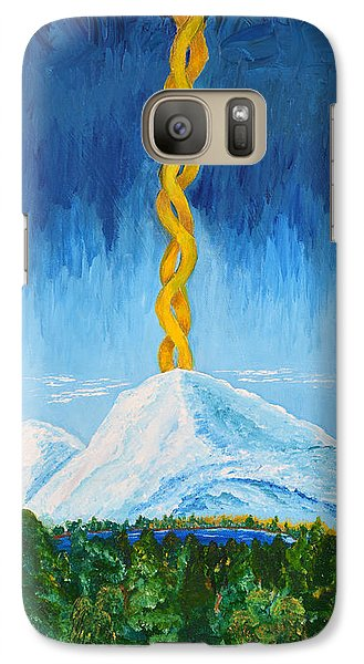 Galaxy Case featuring the painting Mt. Shasta by Cassie Sears