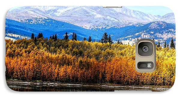 Galaxy Case featuring the photograph Mt. Silverheels With Aspens by Lanita Williams