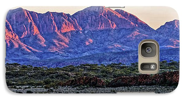 Galaxy Case featuring the photograph Mt Sonder Sunrise by Paul Svensen