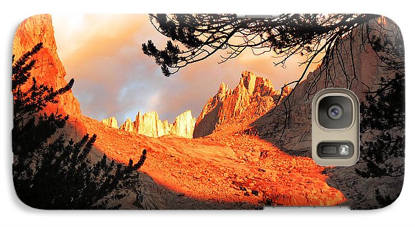 Galaxy Case featuring the photograph Mt. Whitney Sunrise by Alan Socolik