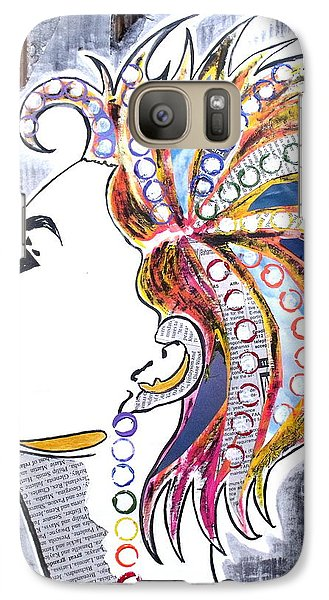 Galaxy Case featuring the painting Much More Than Her Story by Julie  Hoyle