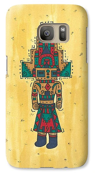 Galaxy Case featuring the painting Mudhead Kachina Doll by Susie Weber