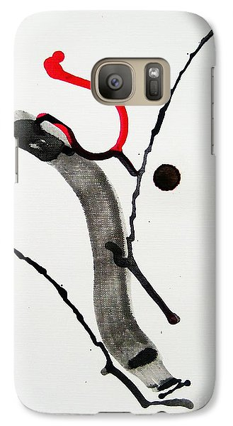 Galaxy Case featuring the painting Muga No Genri Ni by Roberto Prusso