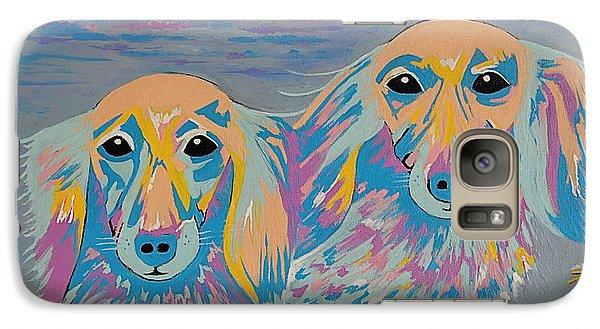 Galaxy Case featuring the painting Mugi And Tatami by Kathleen Sartoris
