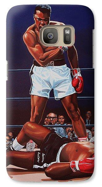 Muhammad Ali Versus Sonny Liston Galaxy S7 Case by Paul Meijering