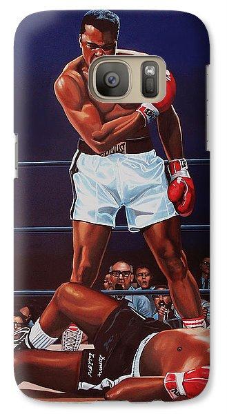 Portraits Galaxy S7 Case - Muhammad Ali Versus Sonny Liston by Paul Meijering