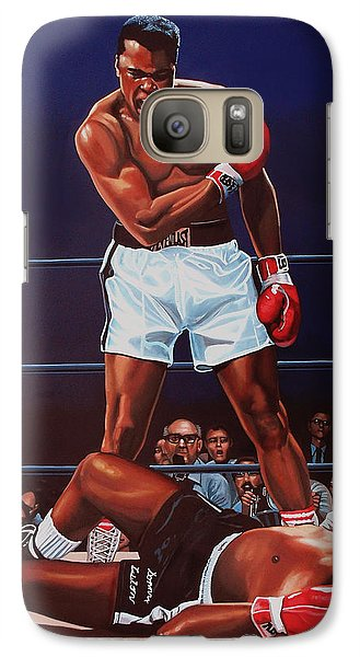 Muhammad Ali Versus Sonny Liston Galaxy S7 Case by Paul Meijering
