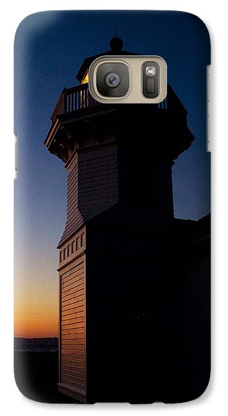 Galaxy Case featuring the photograph Mukilteo Light House Sunset by Sonya Lang
