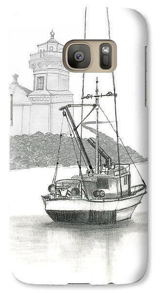 Galaxy Case featuring the drawing Mukilteo Lighthouse by Terry Frederick