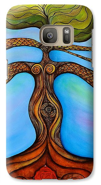 Galaxy Case featuring the painting Muladhara by Deborha Kerr