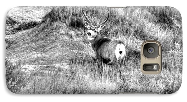 Galaxy Case featuring the photograph Mule Buck B/w by Kevin Bone