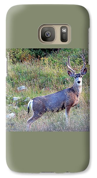 Galaxy Case featuring the photograph Mule Deer Buck by Karen Shackles