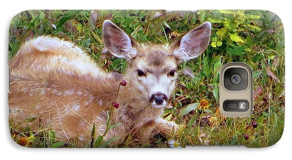 Galaxy S7 Case featuring the photograph Mule Deer Fawn by Karen Shackles