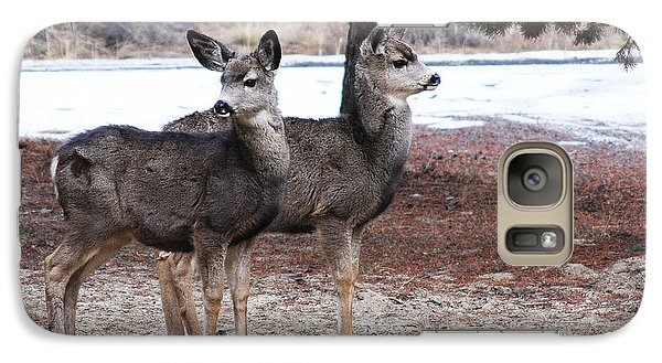 Galaxy Case featuring the photograph Mule Deer Fawns by Jennifer Muller