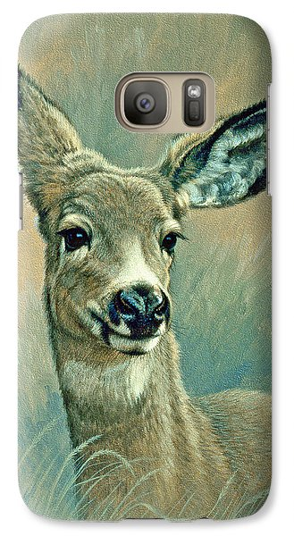 Muley Fawn At Six Months Galaxy Case by Paul Krapf