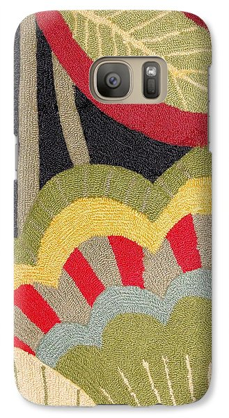 Galaxy Case featuring the photograph Multi-colored Flowers Leaves Textile by Janette Boyd