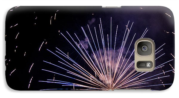 Galaxy Case featuring the photograph Multicolor Explosion by Suzanne Luft
