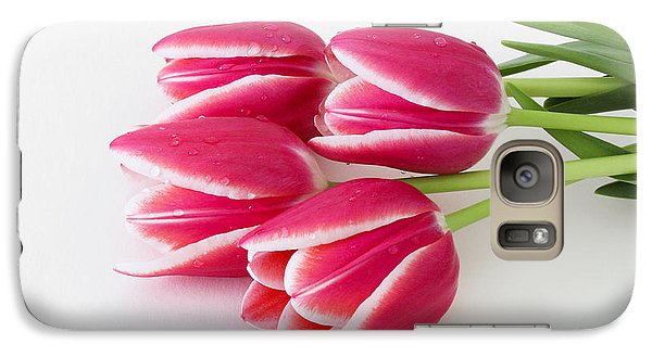 Galaxy Case featuring the photograph Multicolored Tulips by Anita Oakley