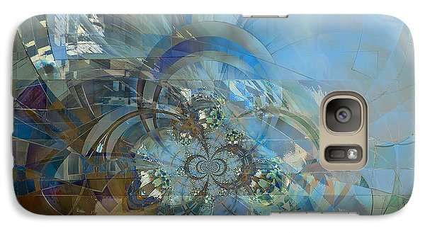 Galaxy Case featuring the digital art Multiple Dimensions by Ursula Freer