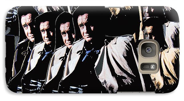 Galaxy Case featuring the photograph Multiple Johnny Cash In Trench Coat 1 by David Lee Guss