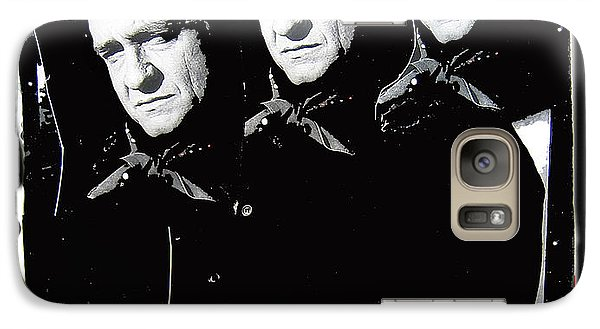 Galaxy Case featuring the photograph Multiple Johnny Cash Sitting Old Tucson Arizona 1971-2008 by David Lee Guss