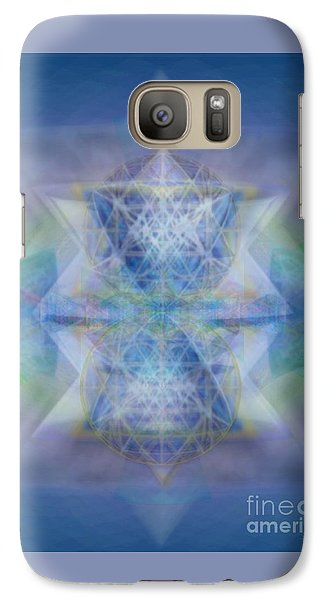 Galaxy Case featuring the digital art Multivortex 3d Chalice With Horizontal Vortexes by Christopher Pringer