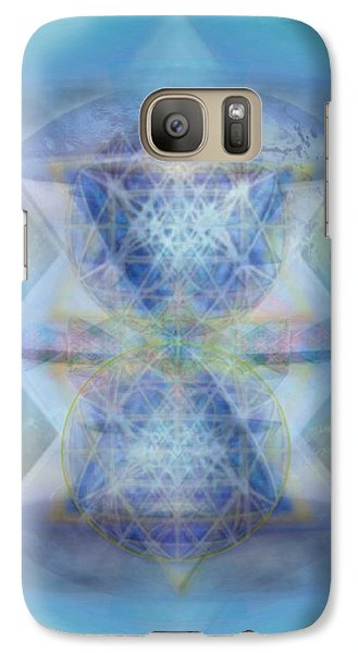 Galaxy Case featuring the digital art Multivortex 3d Chalice With Horizontal Vortexes Over The Earth by Christopher Pringer