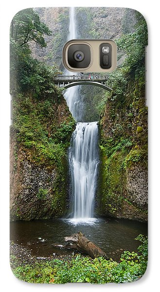 Galaxy Case featuring the photograph Multnomah Falls by Jeff Goulden