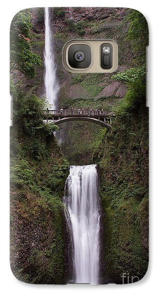Galaxy Case featuring the photograph Multnomah Falls by Suzanne Luft